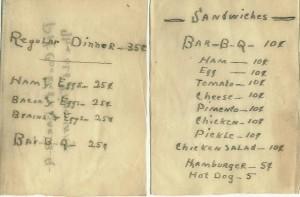 Fundy's Restaurant 1946 - 1947