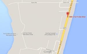 Davis Road to Fort Fisher Gates - Marker is Howard Hewett Home.