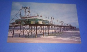 The Fisherman's Steel Pier, built in 1953, was just off the boardwalk and south of the Bame Hotel. The pier enjoyed only one season before being severely damaged in Hurricane Hazel. It was rebuilt and later the popular Skyliner ride was added. (picture - 1964) The pier remained until more hurricane damage forced its demolition in the 1970s.