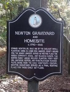 Newton Graveyard marker